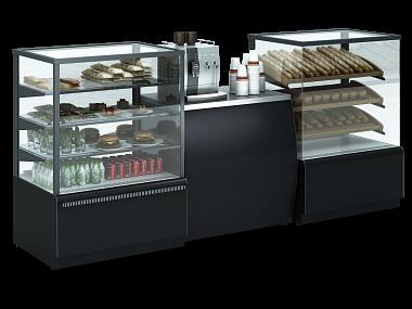 витрины кондитерские, лофт, стиль, оборудование для кофейни